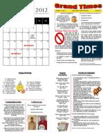 July 2012  Foster Grandparent Newsletter