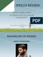 Islamic Speech Review Presentation (ISR)
