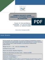 Encuesta de Conicet sobre creencias religiosas en Argentina