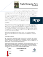 Capital Campaign June 2012 Newsletter