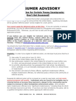Deferred Action Consumer Advisory