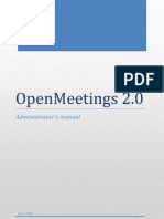 OPENMEETINGS 2.0 - Administrator's Manual
