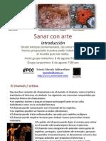 Sanar Con Arte, Agosto 2012