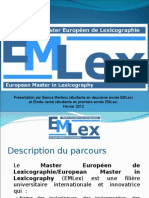 European Master in Lexicography Nancy