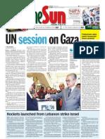TheSun 2009-01-09 Page01 UN Session on Gaza