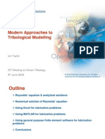 I Taylor Modern Approaches Tribological Modelling