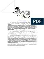Guia Nutricional b. Natural Spa