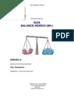 Guía de Balance Hídrico UC