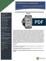 Small, High Efficiency, Recuperated Ceramic Turboshaft Engine