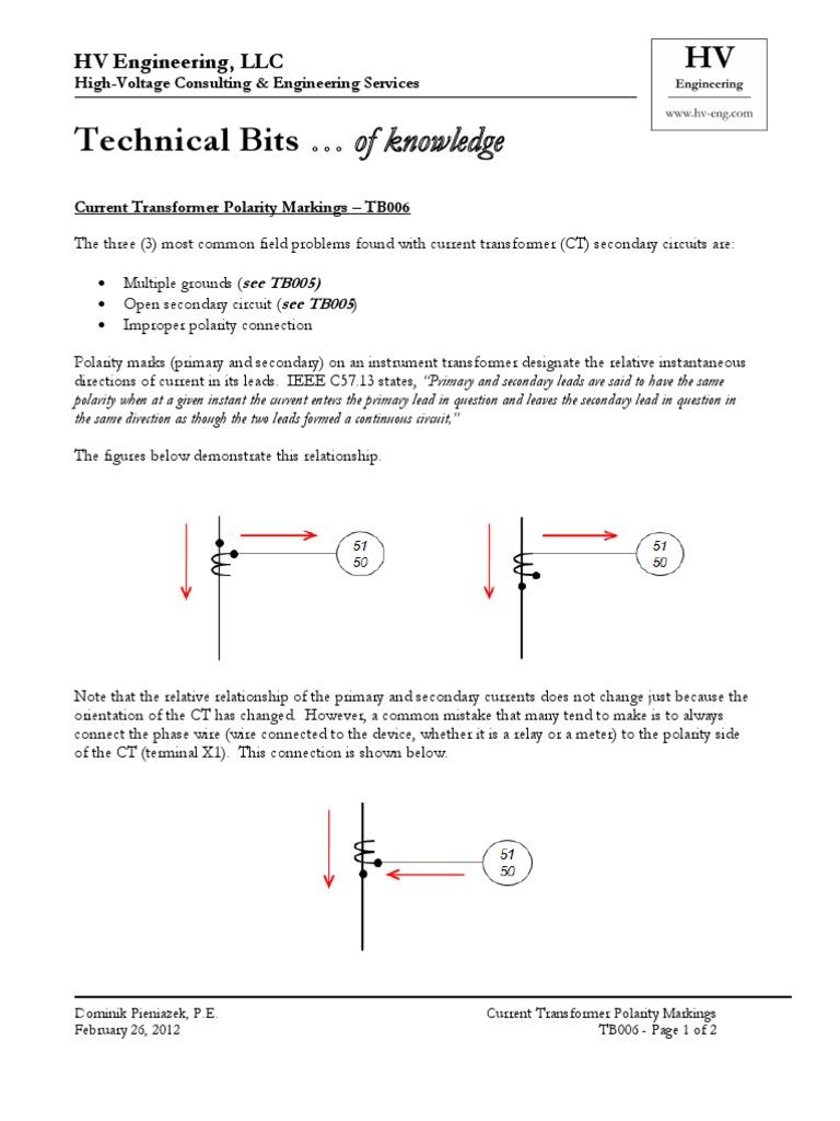CT Polarity | Relay | Electric Power