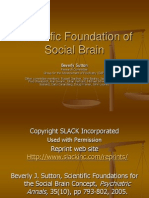 Scientific Foundation of social brain