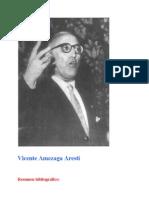 Resumen Bibliografico y nota Biografica - Vicente Amezaga - Autor Xabier Iñaki Amezaga Iribarren