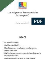 Los Programas Presupuestales Estratégicos - Piura