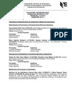 #EducaciónUCV Minuta Consejo Escuela de Educación 1475. 11.07.12 #UCV