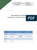 Procedimiento - Sistema de Tareos