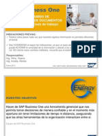 SAP Business One - Manual de Cambio de Numeración de Documentos