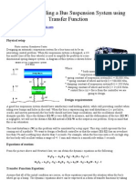 Modeling Bus Suspension Transfer Function