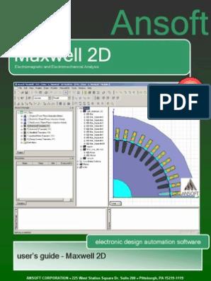Manual Maxwell 2D   Finite Element Method   Electric Motor