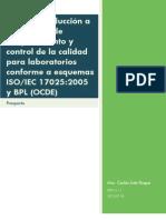 Introducción a programas de aseguramiento y control de la calidad para laboratorios - Prospecto