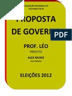 Proposta de Governo da Coligação Mudança Já e do Professor Léo para Barra do Rocha