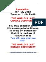 Revelation Trumpet 1.Doc 16.7.
