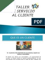 Taller de Diapositivas Servicio Al Cliente