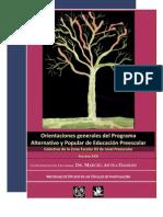 Orientación psicológica del Programa Alternativo y Popular de Educación Preescolar