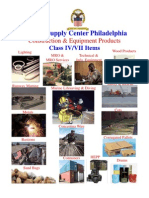Construction & Equipment Products Class IV/VII Items