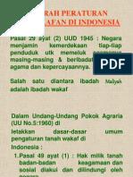 Sejarah Peraturan Perwakafan Di Indonesia