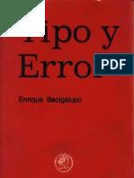 Bacigalupo Enrique Tipo y Error