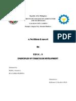 Report in Curriculum Development