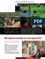 RT Vol. 3, No. 2 Rice experts converge on a 'rare opportunity'