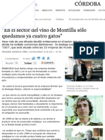 "Entrevista a Francisco Robles en ""El Día de Córdoba"""