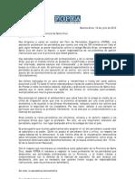 Carta Al Gobernador de Santa Cruz - Daniel Peralta