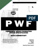 Wood Foundation Design Specs.