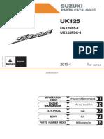 Suzuki Skydrive 125 Parts Catalog 2010
