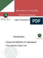 cyberlaw Legal Framework