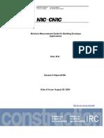 Moisture Measurement Guide for Building Envelope Applications
