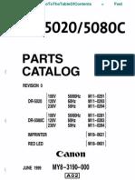 DR-5020 & -5080C PARTS