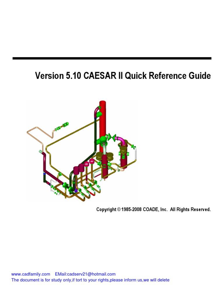 Caesar ii user's guide   license   copyright.