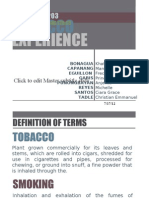 Powerpoint Presentation - Cigarette Smoking