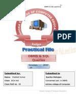 26812648 Practical File SQL Queries DBMS