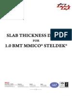 Steldeck Slab Design