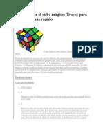 Como Armar El Cubo de Rubik