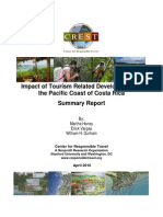 Summary Report Impact Tourism Related Development Pacific Coast Costa Rica