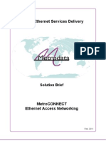 MetroCONNECT Ethernet Access Networking