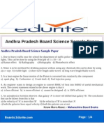 Andhra Pradesh Board Science Sample Paper
