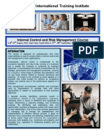 Course Outline - Internal Control and Risk Management - 2 Weeks Course