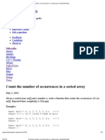 Count the Number of Occurrences in a Sorted Array _ GeeksforGeeks