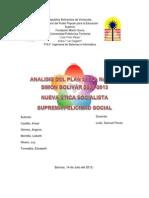 Analisis Del Plan de La Nacion Simon Bolivar 1 y 2